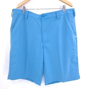 Under Armour Shorts Men's 40 Bright Blue Stretch